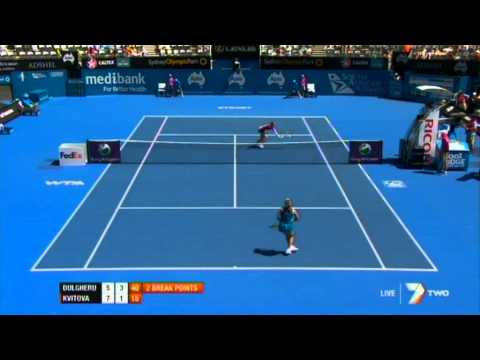 A. Dulgheru v P. Kvitova Highlights Women's Singles Second Round: Sydney International 2012