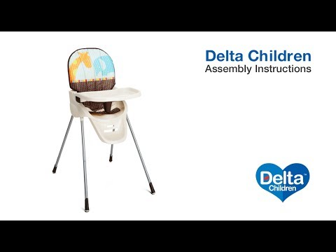 Delta Children Novel Ideas High Chair Assembly Video