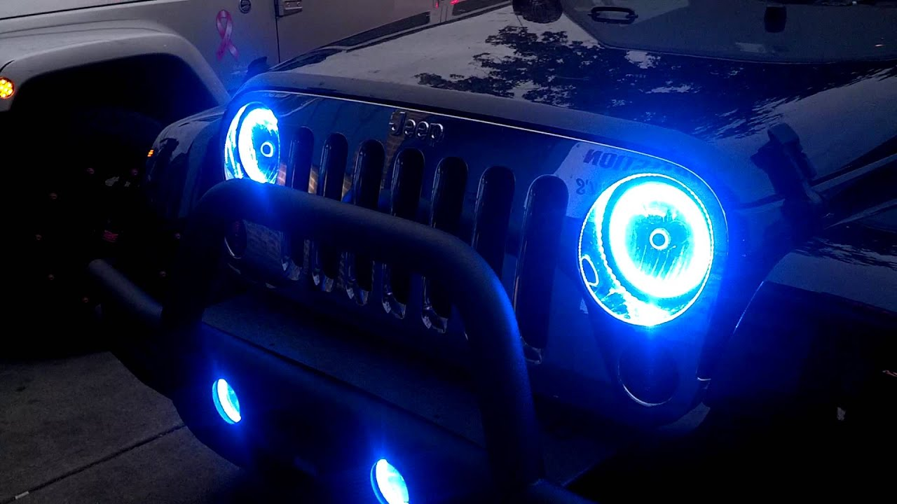 Oracle Halo Lights On Jeep Jk By Ace Tire Youtube