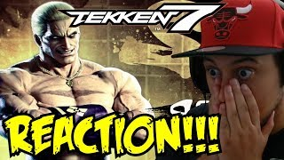 HOLY F#%k!!! TEKKEN 7 - Geese Howard Reveal Trailer EVO 2017 REACTION!!!