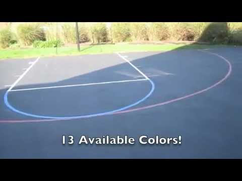 Cool Driveway Basketball Court Stencil How To Save Money