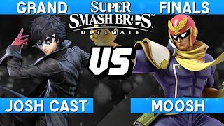 Smash Ultimate Tournament Grand Finals - Josh Cast (Joker) vs Moosh (Captain Falcon) - S@LT 185