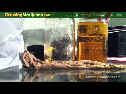 Growing Marijuana - How To Make Cannabis Tincture