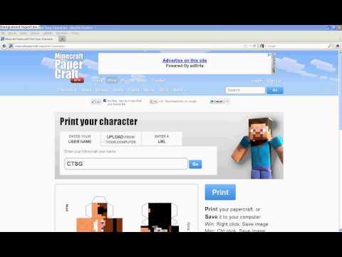 Jak wydrukować swoją postać z minecrafta  PAPERCRAFT