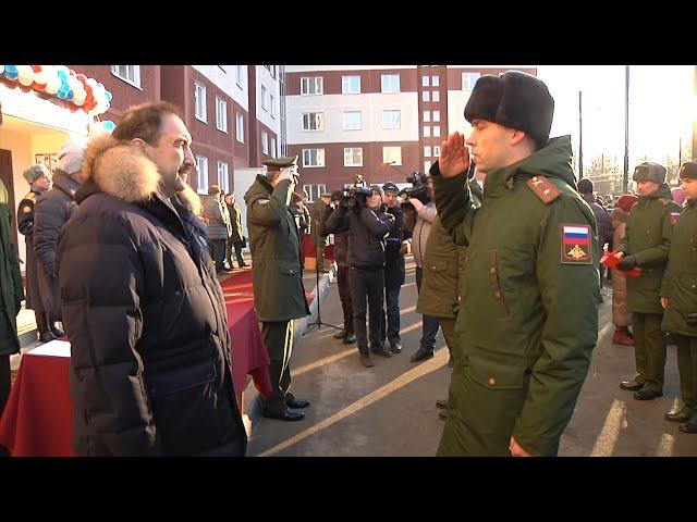 В Казани военнослужащие получили ключи от служебных квартир