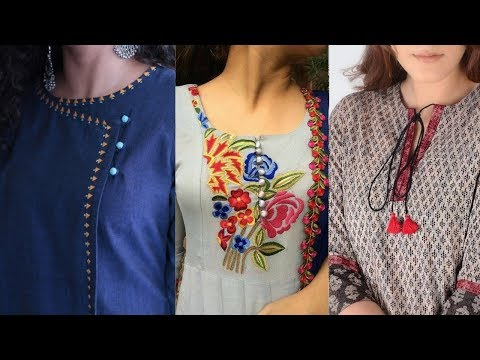 Top designer neck designs || kurti/kurta neck design || suits neck designs of latest designers