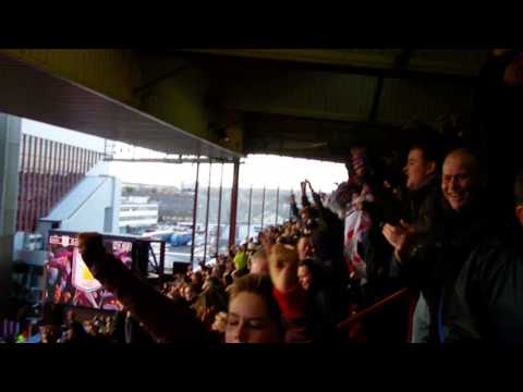 Stoke City - Peter Odemwingie Goal Celebrations at Villa