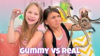 Gummy vs Real Food Challenge   Hope Marie with Jojo B