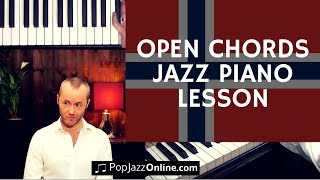 Open chords Jazz Piano Lesson (Scandinavian Style)