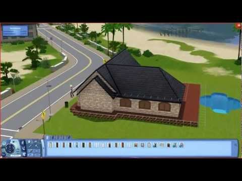 Sims 3 - Small Beach House - Building A House [hd] video
