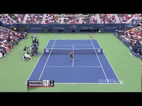 Caroline Wozniacki vs Maria Sharapova US Open 2014 R4 Highlights (HD)