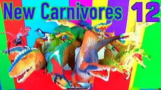 DINOSAUR Box 12 TOY COLLECTION - NEW CARNIVORE DINOSAURS Unboxing Toy Review SuperFunReviews