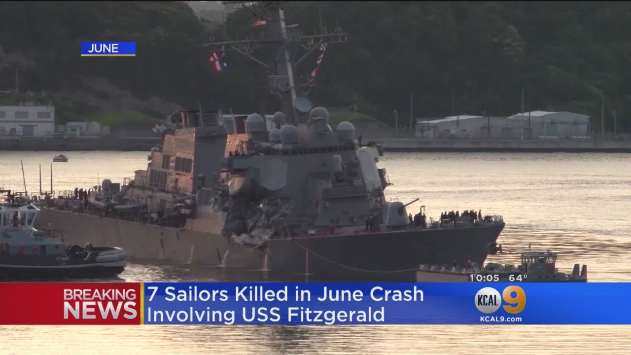 10 Sailors Missing After U.S. Navy Destroyer Collides With Oil Tanker