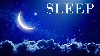 Sleep Music Night Waterfall - Blue Screen Scene and Sleeping Sound