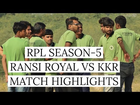 RPL RANSI ROYAL VS KKR MATCH HIGHLIGHTS RANSIGAON