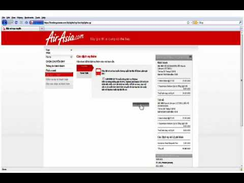 how to book tickets online from AirAsia.com