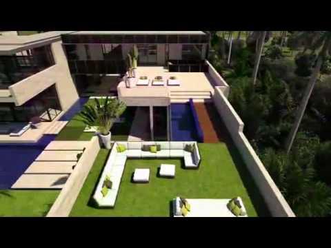 Dise o de una casa de lujo en miami youtube for Mansiones lujosas modernas