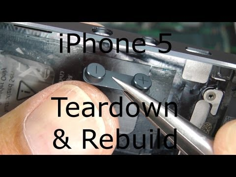 iPhone 5 Repair / Disassembly / Teardown &amp; Rebuild - Screen &amp; Case Replacement