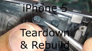 iPhone 5 Repair / Disassembly / Teardown & Rebuild - Screen & Case Replacement