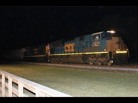 (HD) Early Morning Railfanning Folkston, GA 4-5-2014