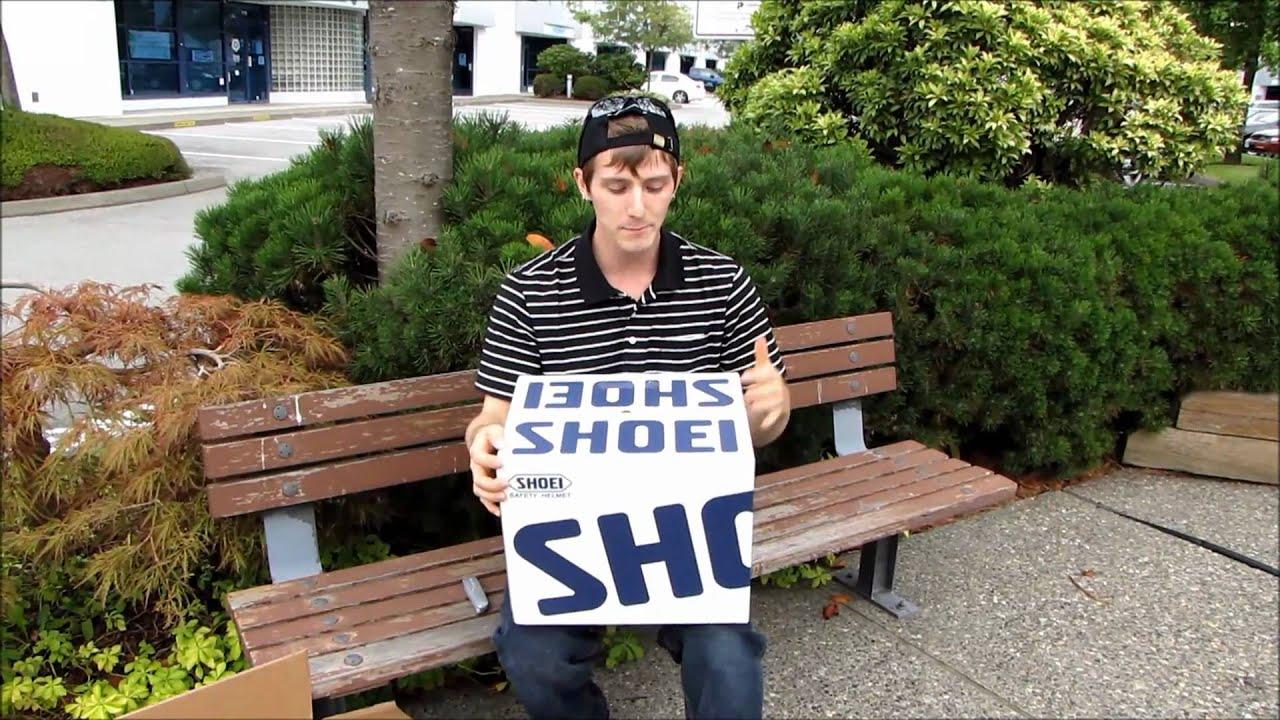 Shoei RF-1100 Monolith Motorcycle Helmet Unboxing & First Look Linus Tech Tips - YouTube