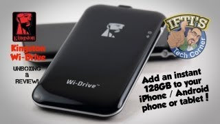 iPhone/Android Wireless Storage Expansion - Kingston Wi-Drive Review