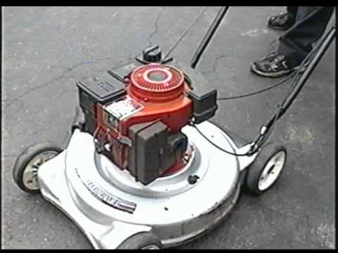 2 Cycle Lawnmower Start Up With Tecumseh Tvxl840 Youtube