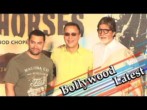 Aamir Khan, Amitabh Bachchan At The Trailer Launch Of 'Broken Horses'