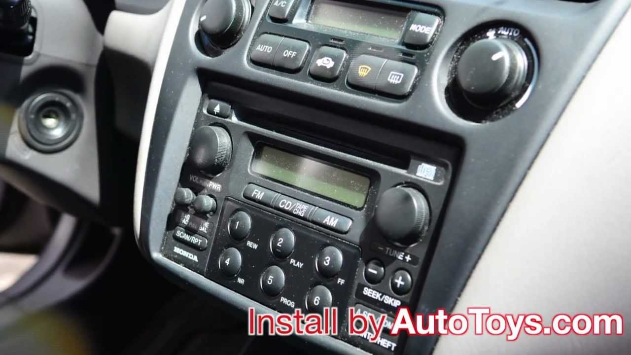 HONDA ACCORD IPOD 1998-2002 Aux Mp3 GROM-IPD3-MBUS interface & demo by AutoToys.Com - YouTube
