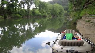 Intex Excursion 5 on the Harpeth River