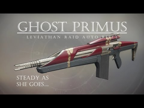 Destiny 2 - Ghost Primus - Leviathan Raid Auto Rifle - PVP Gameplay Review
