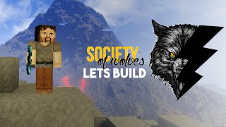 Minecraft Lets Build :: Society of Wolves :: Castle Beginnings Part 1