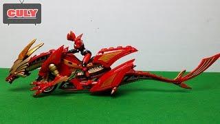 Kamen Rider Ryuki - Siêu nhân phi long cưỡi mô tô biến hình - Dragon motorcycle figure toy for kid