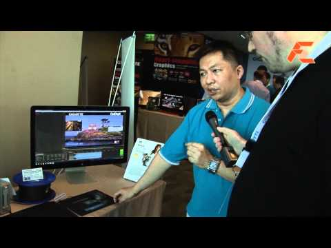 Dual Thunderbolt stress test demo on single Gigabyte motherboard - Computex 2012