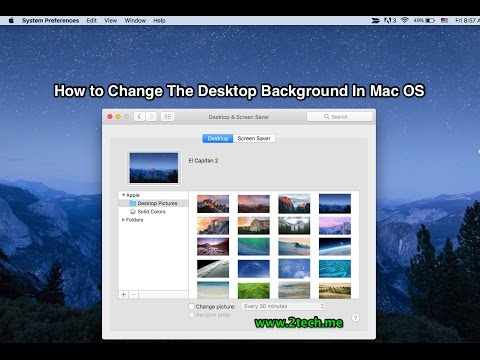 How to Change The Desktop Background in Mac OS