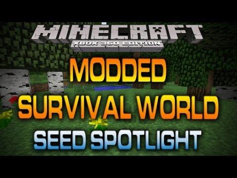 Minecraft (Xbox 360): MODDED SURVIVAL WORLD W/ DOWNLOAD (Seed Spotlight)