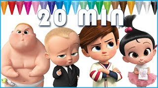 Boss Baby Coloring Book | Coloring Pages for Kids | Boss Baby, Tim, Jimbo, Triplets, Eugene, Staci