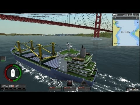 Ship Simulator Extremes - Game Play: Winner Cargo Ship Golden Gate Bridge