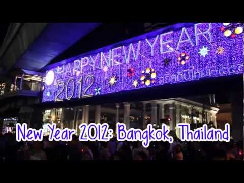 New Years Eve 2012 in Bangkok (Fireworks Central World) สวัสดีปีใหม่ 2555