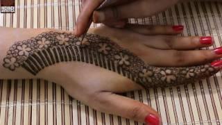 Unique Floral Mehndi Designs For Hands | Upper Side Hand Easy henna Mehndi Design