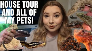 Tour Of My Personal Zoo!   House Tour + All My Pets!