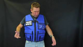 Firearms Instructor Vest Blue - TheVestGuy.com