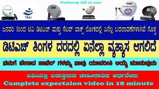 New year new DTH and cable TV new rules in Kannada language complete expectation