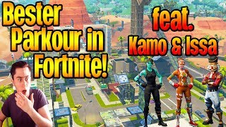 BESTER Parkour in Fortnite! | ft. Kamo & Issa | Funny moments