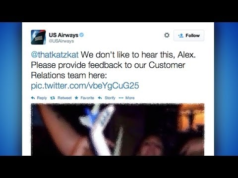 Us Airlines Tweets Out Porn?! video