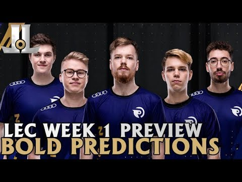 LEC Week 1 Preview and Bold Predictions | 2019 Spring