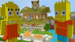 Minecraft The Simpsons - Creepy Next Door Neighbors [1] (Minecraft Xbox Roleplay)