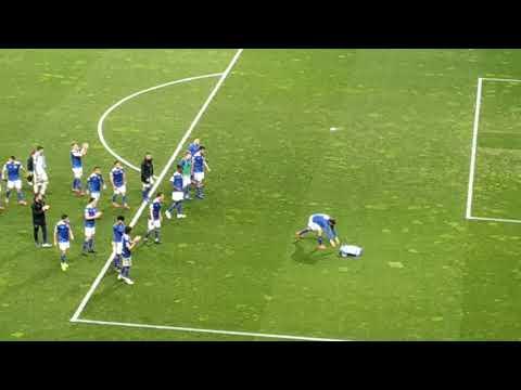 Real Oviedo 1 - Alcorcón 0; despedida al equipo