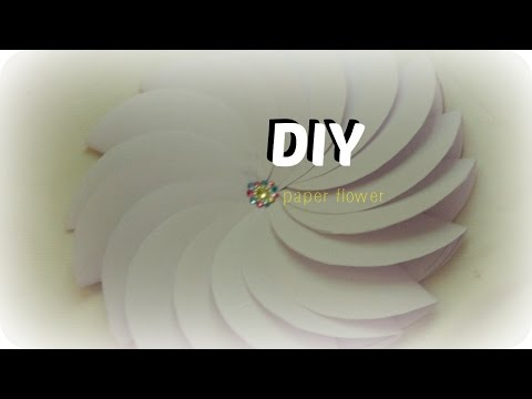 how to make  paper flower: easy paper craft /DIY room decor