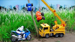 Motorbike and Construction Vehicles Rescue Monster Cars | Car Toys For Kids | Cars and Toys